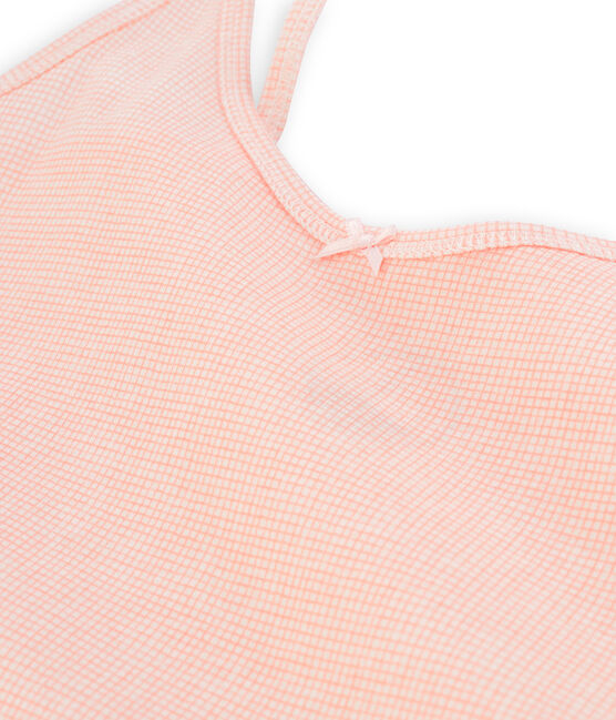 Women's strappy vest Marshmallow white / Rosako pink