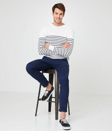 Men's Sailor Pullover Marshmallow white / Smoking blue