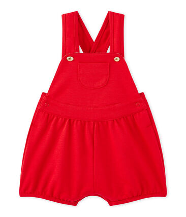 Baby girl's heavyweight jersey short overalls