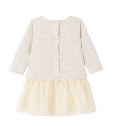 Baby girl's 2-in-1 quilted double knit dress Montelimar Chine grey