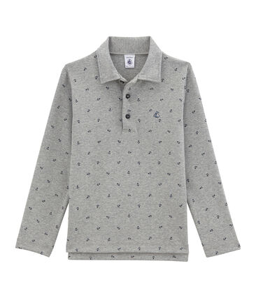 Boy's printed polo shirt