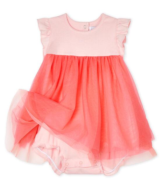 Baby Girls' Short-Sleeved Bodysuit/Dress Minois pink