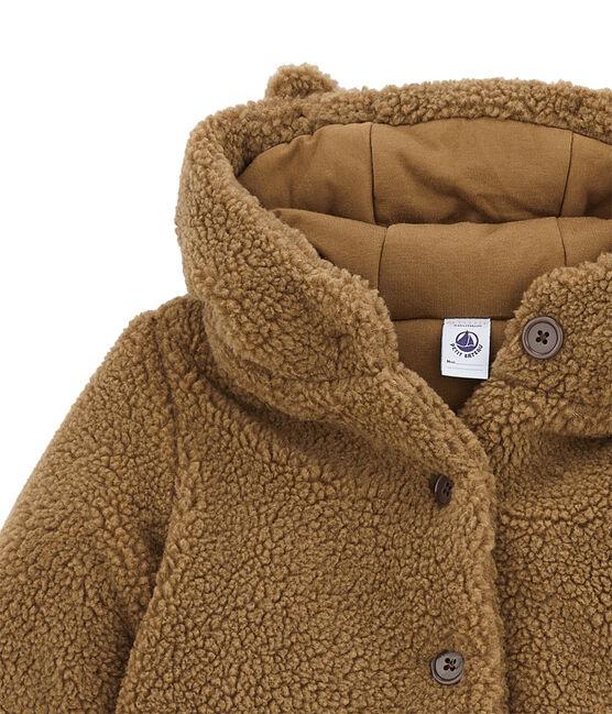 Girl's sherpa coat Brindille brown
