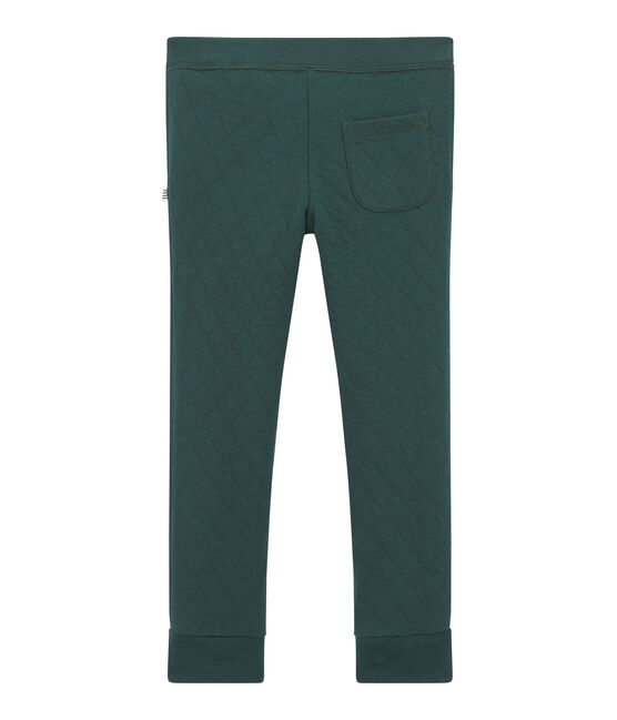 Boy's quilted double knit trousers Sherwood green