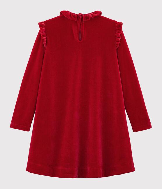 Girl's Long-sleeved Dress Terkuit red