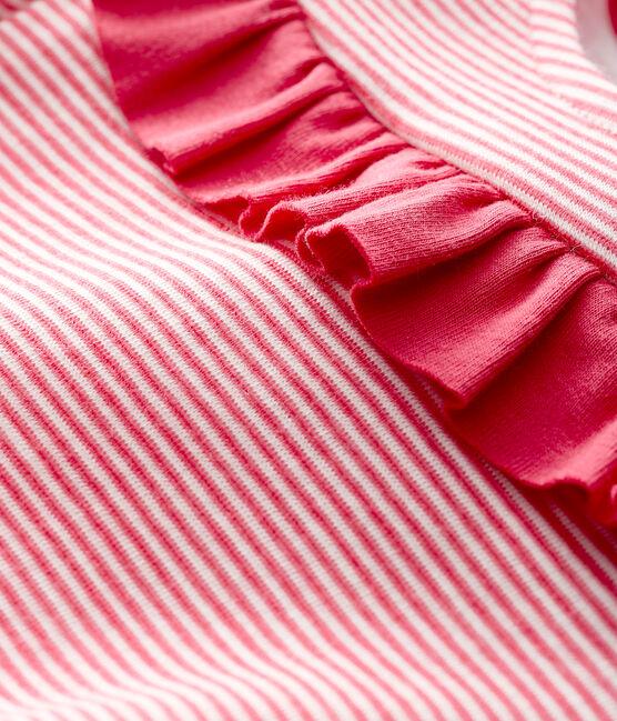 Baby girl's long-sleeved blouse POPPY/MARSHMALLOW