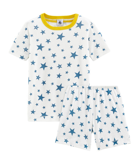 Boys' short Pyjamas Marshmallow white / Alaska blue