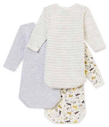 Baby boy's long sleeved body trio