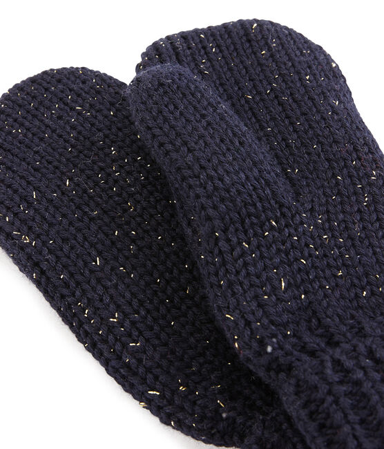 Girls' Mittens Smoking blue / Or yellow