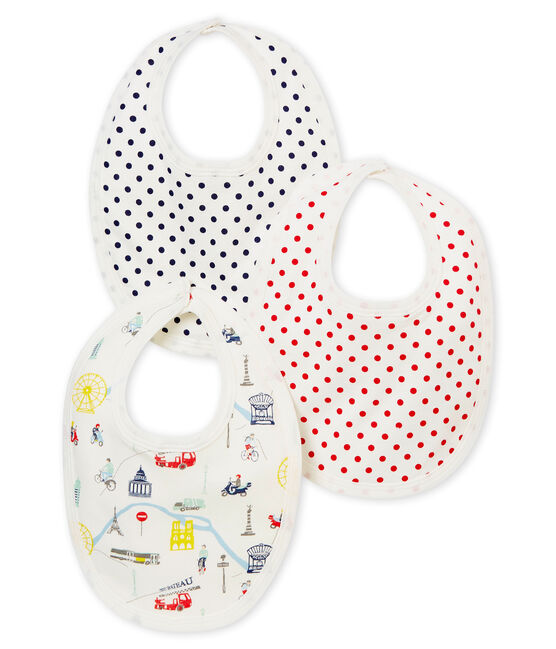 Baby girl's bib trio . set