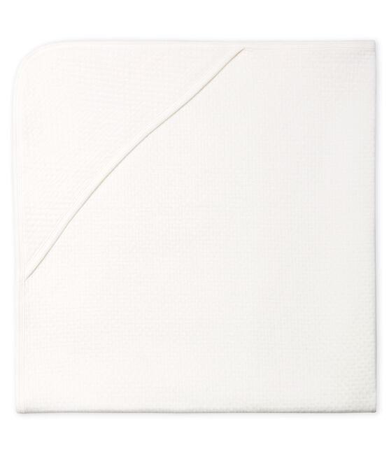 Babies' Tube Knit Blanket Marshmallow white