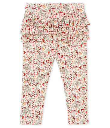 Baby Girls' Printed Ruffled Leggings
