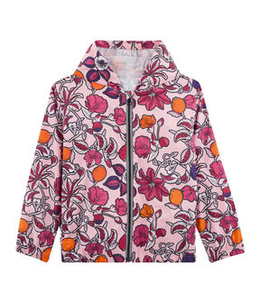 Girls' 50+ UPF Sunproof Windbreaker Patience pink / Multico white