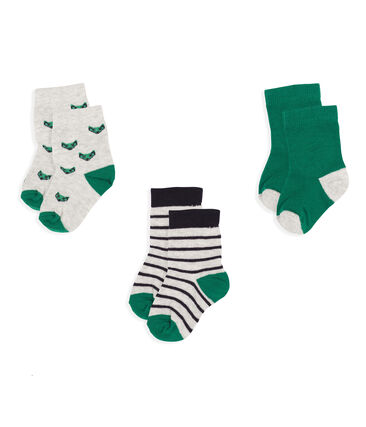 Baby Boys' Socks - 3-Piece Set Beluga grey