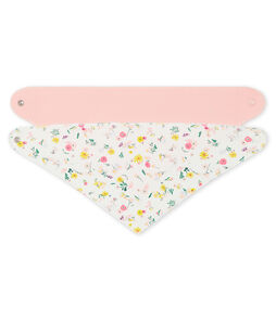 Set of 2 bandana bibs for baby girls . set