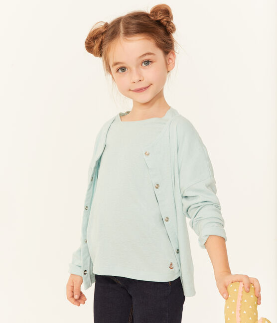 Girls' Cardigan Crystal blue