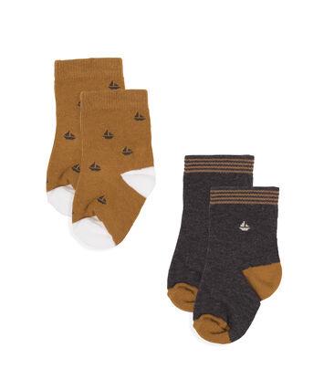 Baby Boys' Socks - 2-Piece Set City Chine grey