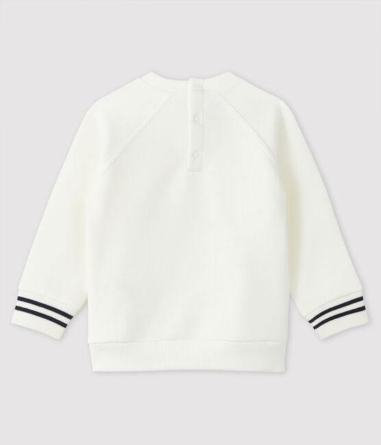 Baby boy's print sweatshirt Marshmallow white