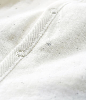Babies' Jumpsuit/Sleeping Bag in Tube Knit Marshmallow white / Multico white