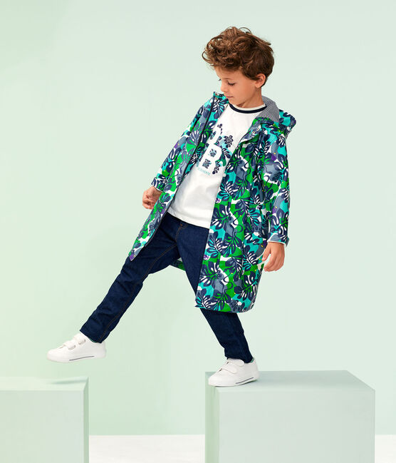 Boys' Waxed Coat Marshmallow white / Multico white