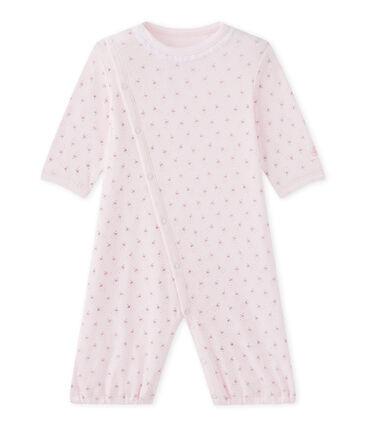 Baby girls' 2-in-1 one-piece / sleep sack Vienne pink / Multico white