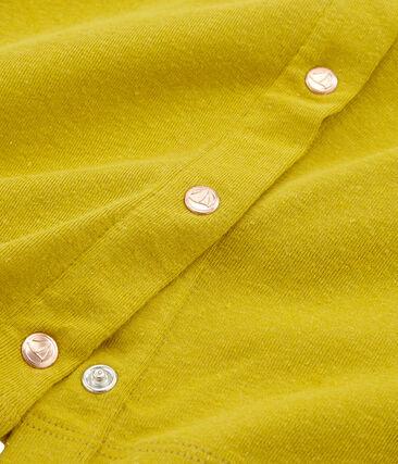 Girls' Cardigan Bamboo yellow