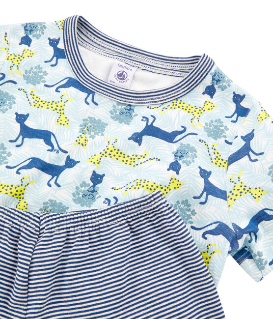 Boys' Ribbed Short Pyjamas - 2-Piece Set . set