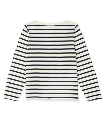 Unisex Children's Breton Top Coquille beige / Smoking blue