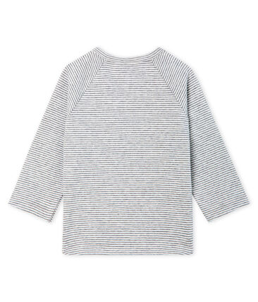 Baby Boys' Long-Sleeved Pinstriped T-Shirt Subway grey / Marshmallow white