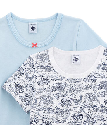 Little girl's short sleeved tee-shirtduo