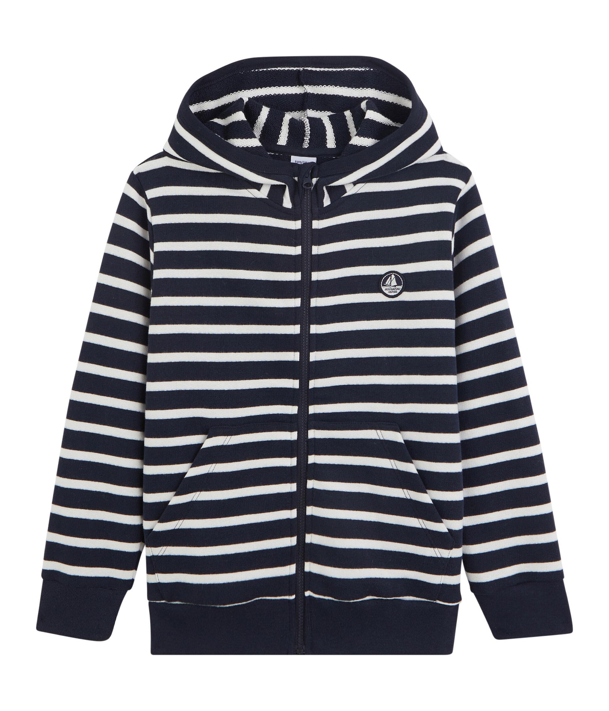 Petit Bateau Baby Boy Hooded Sweatshirt