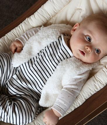 Baby Girls' Sleeveless Sherpa Vest Marshmallow white