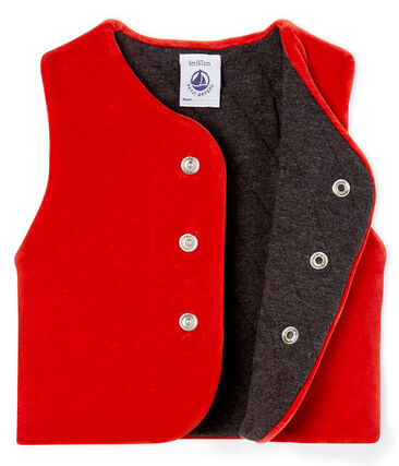 Baby Boys' Sleeveless Jacket Terkuit red