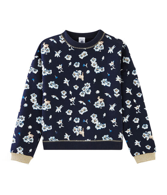 Girls' Sweatshirt Smoking blue / Multico white