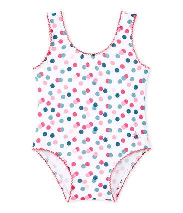 Baby girl's print swimsuit Marshmallow white / Multico white