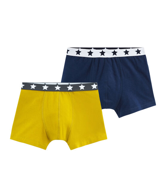 Boys' Stretch Cotton Boxer Shorts - Set of 2 . set