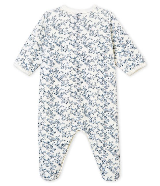 Baby girl's sleepsuit Marshmallow white / Multico white