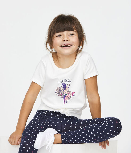 Girls' T-Shirt Marshmallow white