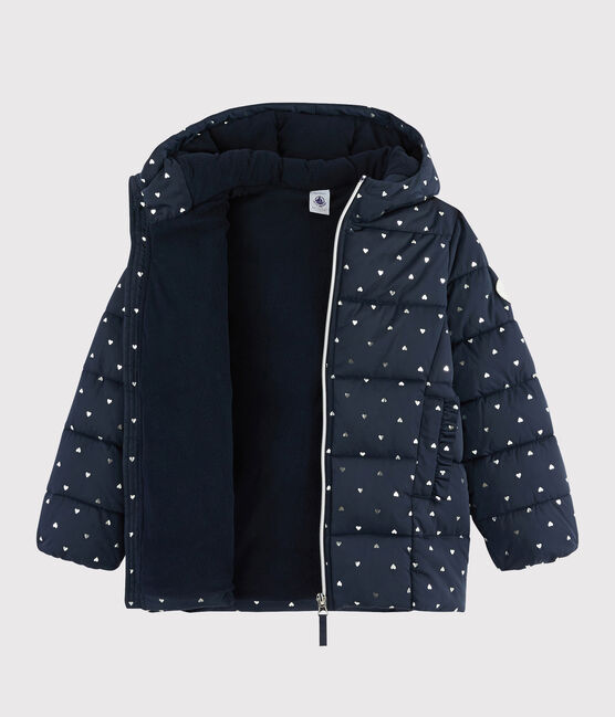 Girls' puffer jacket SMOKING/ARGENT