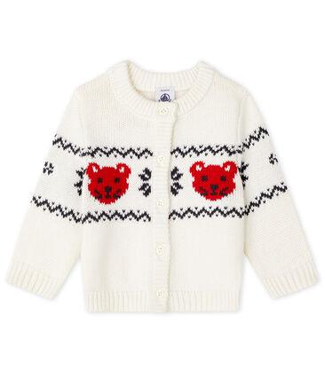 Unisex Baby Cardigan Marshmallow white / Multico white