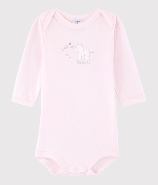 Baby Girls' Long-Sleeved Bodysuit Vienne pink