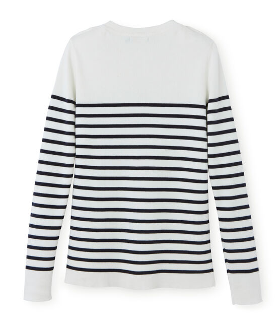 Women's Jumper Lait white / Smoking blue