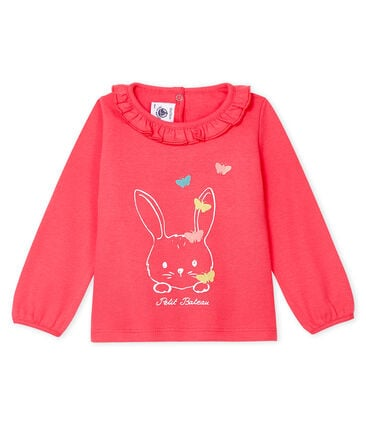 Baby Girls' Long-Sleeved Blouse Groseiller pink