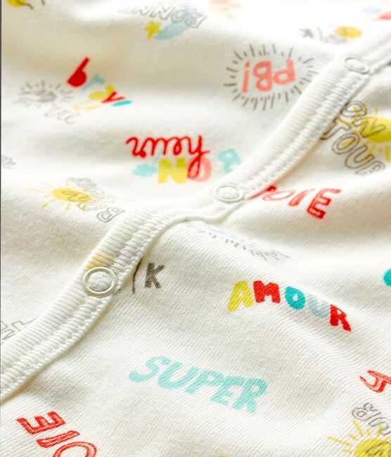 Baby Boys' Ribbed Playsuit Marshmallow white / Multico white
