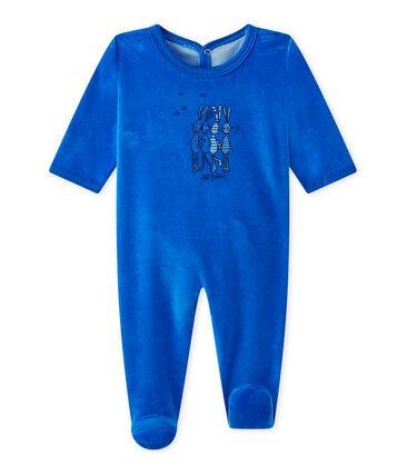 Baby's velour sleepsuit