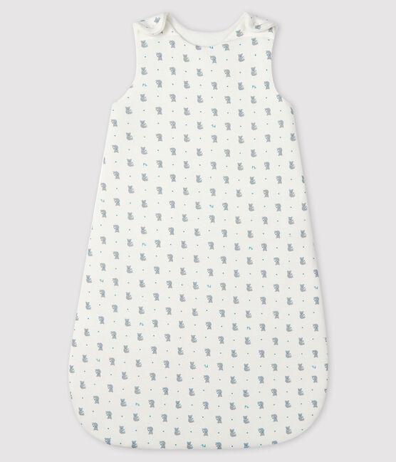 Babies' Rib Knit Sleeping Bag Marshmallow white / Gris grey