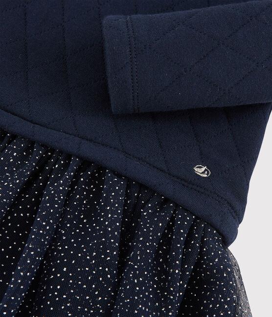 Baby girl's long-sleeved dress Smoking blue