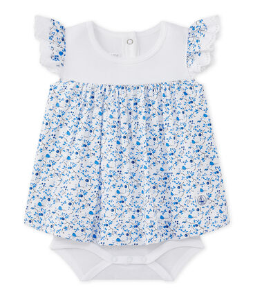 Baby girls' printed poplin dress-bodysuit