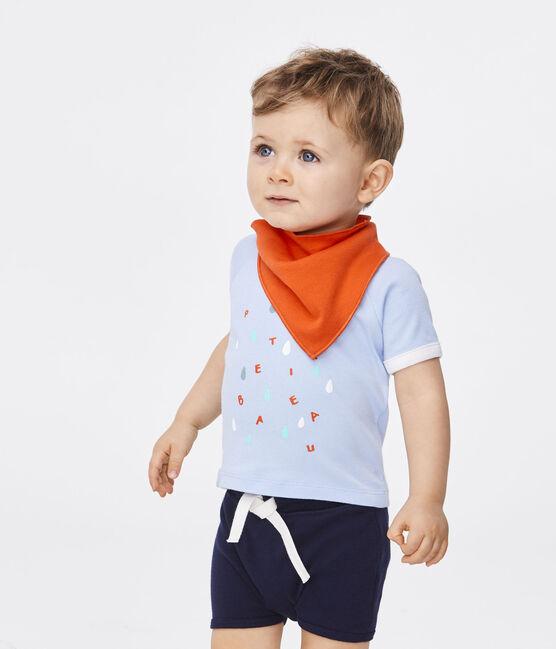 Short-sleeved T-shirt for baby boys Jasmin blue