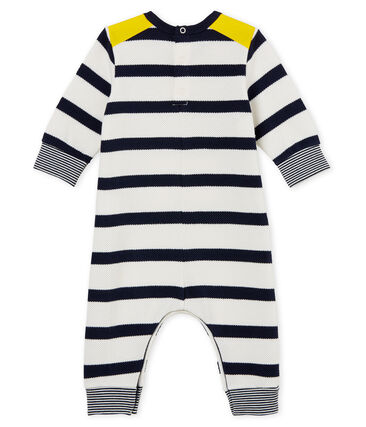 Baby boys' breton striped long all-in-one